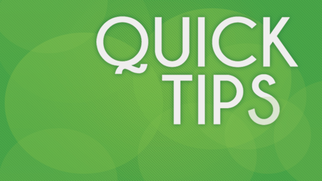TRS Quick Tips